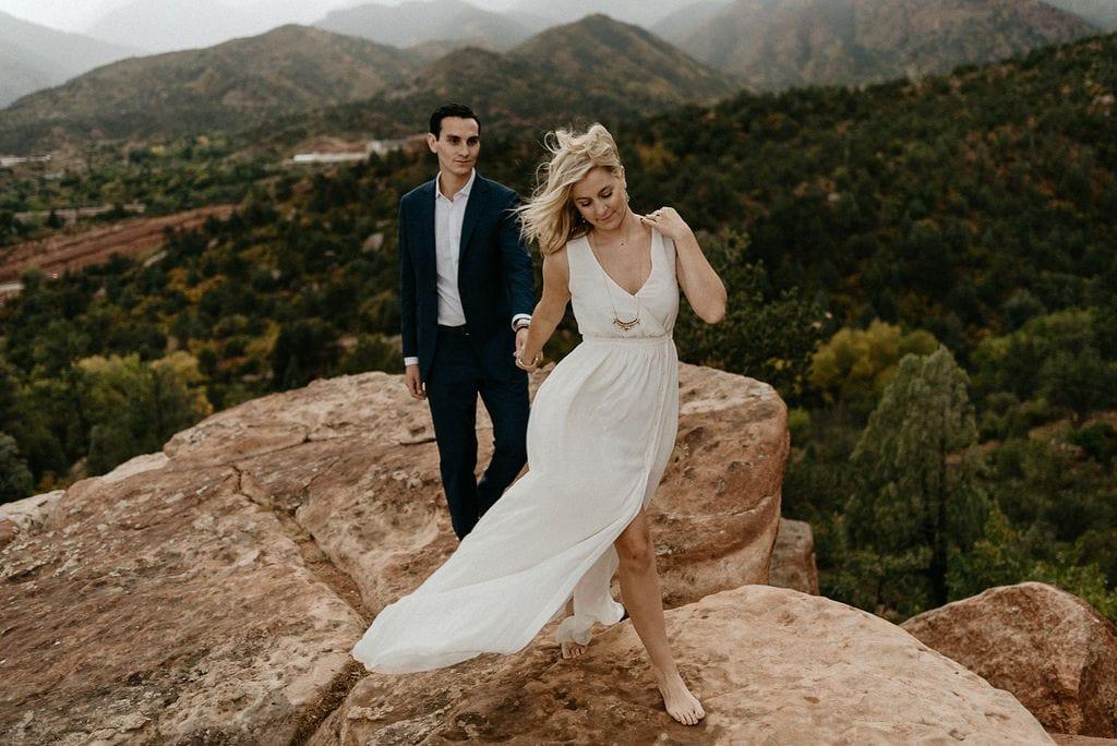 Romantic Rainy Colorado Springs Engagement Session