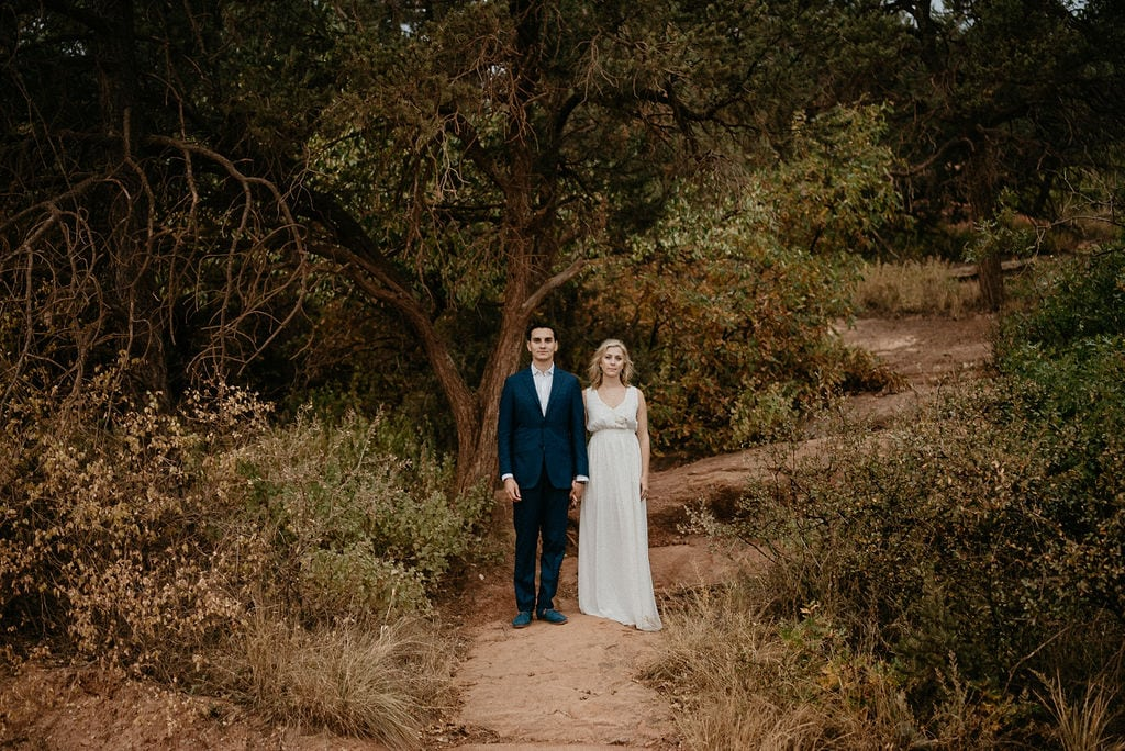 Moody Garden of the Gods Engagement