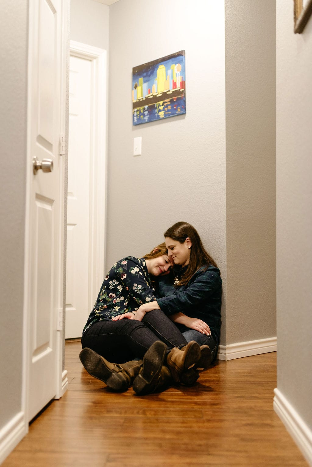 Romantic LGBT In Home Couples Session