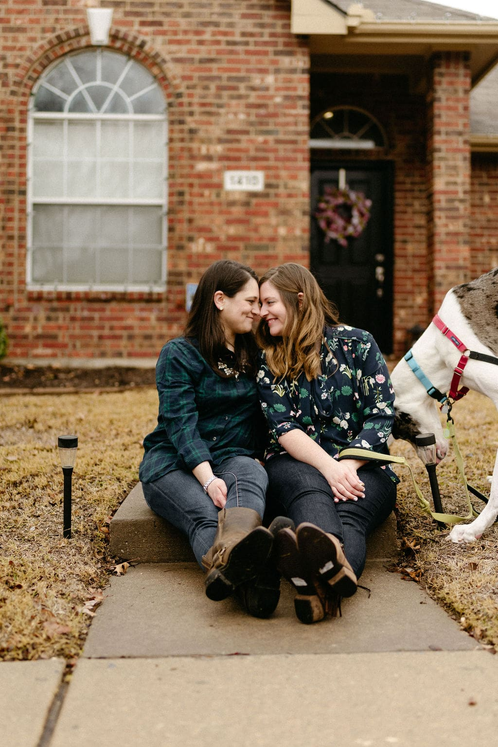 Married LGBTQ Couple At Their Home