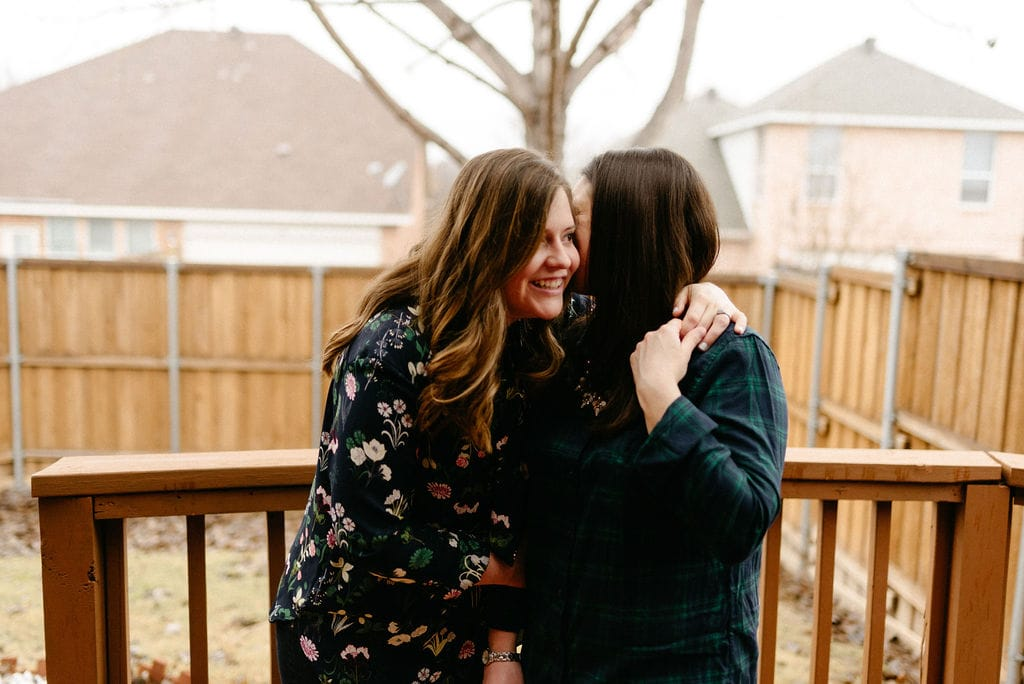 Playful LGBTQ In Home Engagement Session