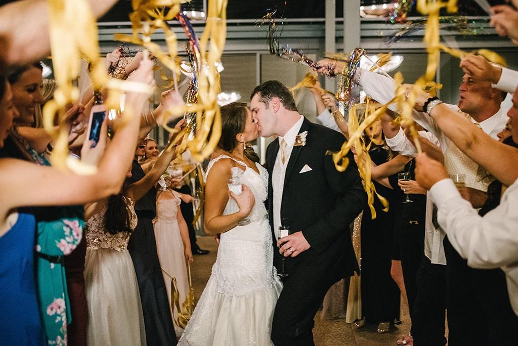 Streamer Exit at Garden of the Gods Resort wedding in Colorado Springs