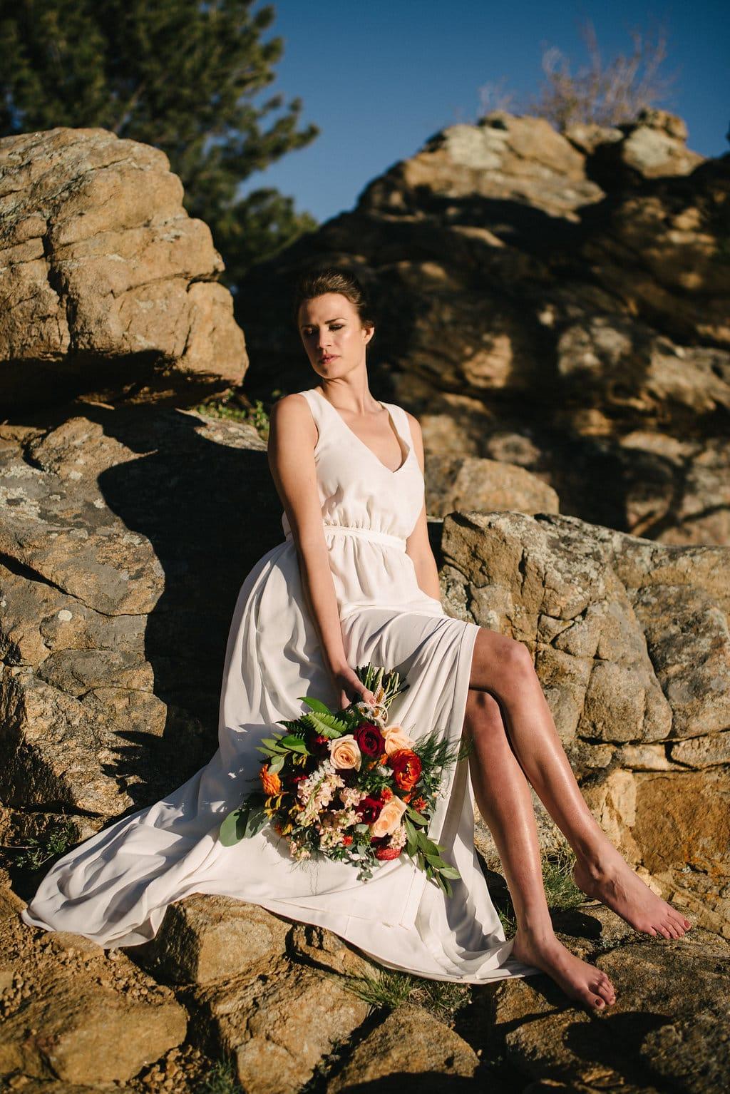 Beautiful Summer Wedding Florals in Estes Park Wedding in Colorado
