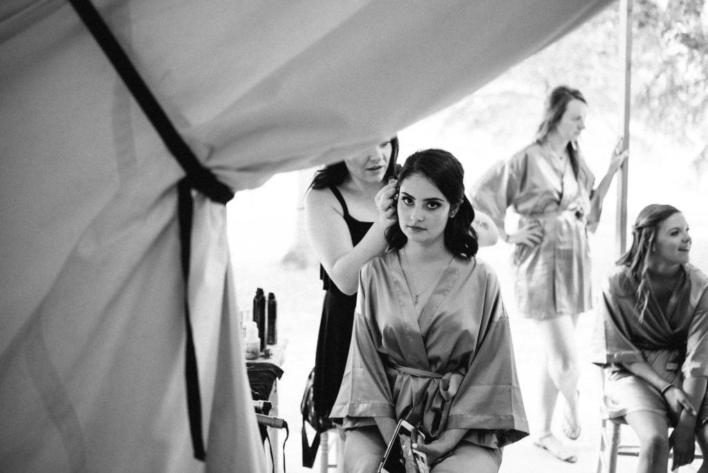 Glamping wedding tent