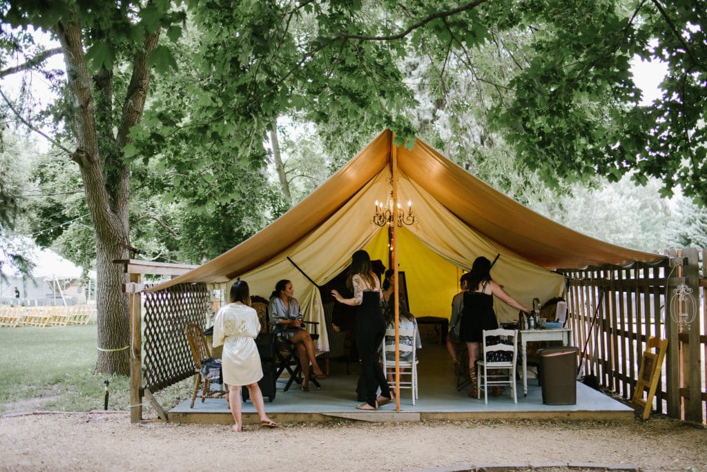 Glamping Tent Lyons Colorado