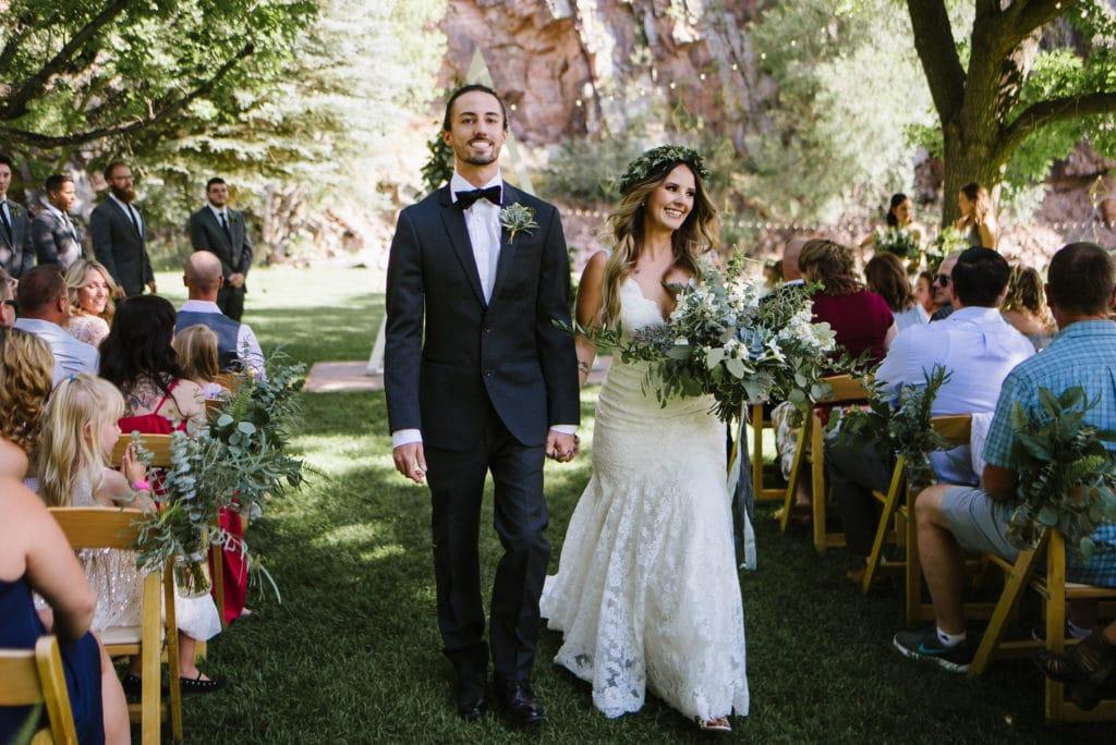 Lyons River Bend wedding ceremony