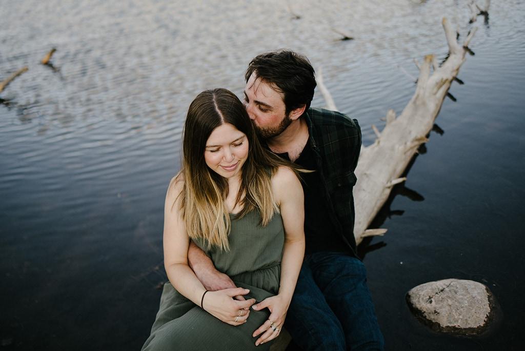 Colorado Lakeside Engagement Photos