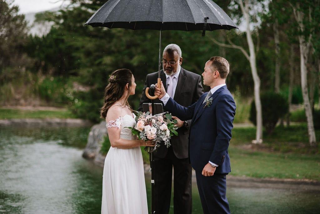 Raining on your Colorado Mountain Wedding