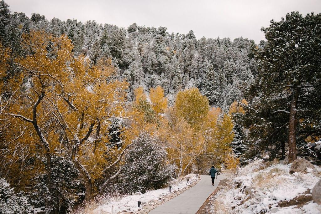 Snowy Colorado Wedding