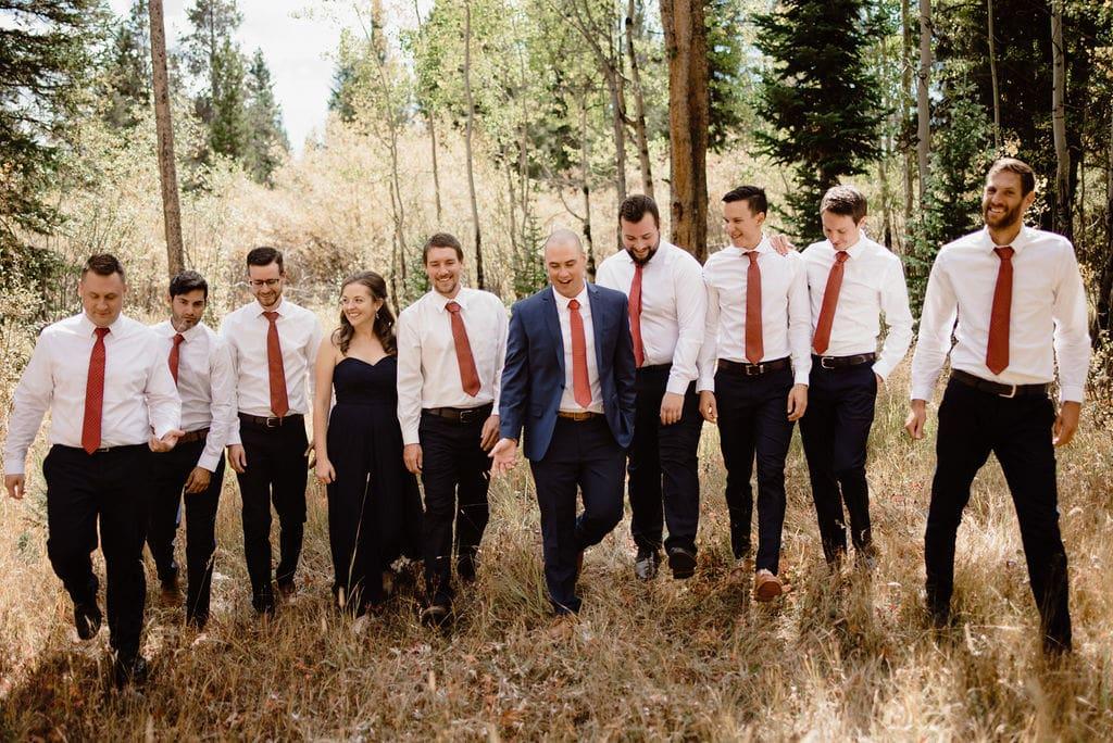 Groomsmen at Breckenridge Wedding