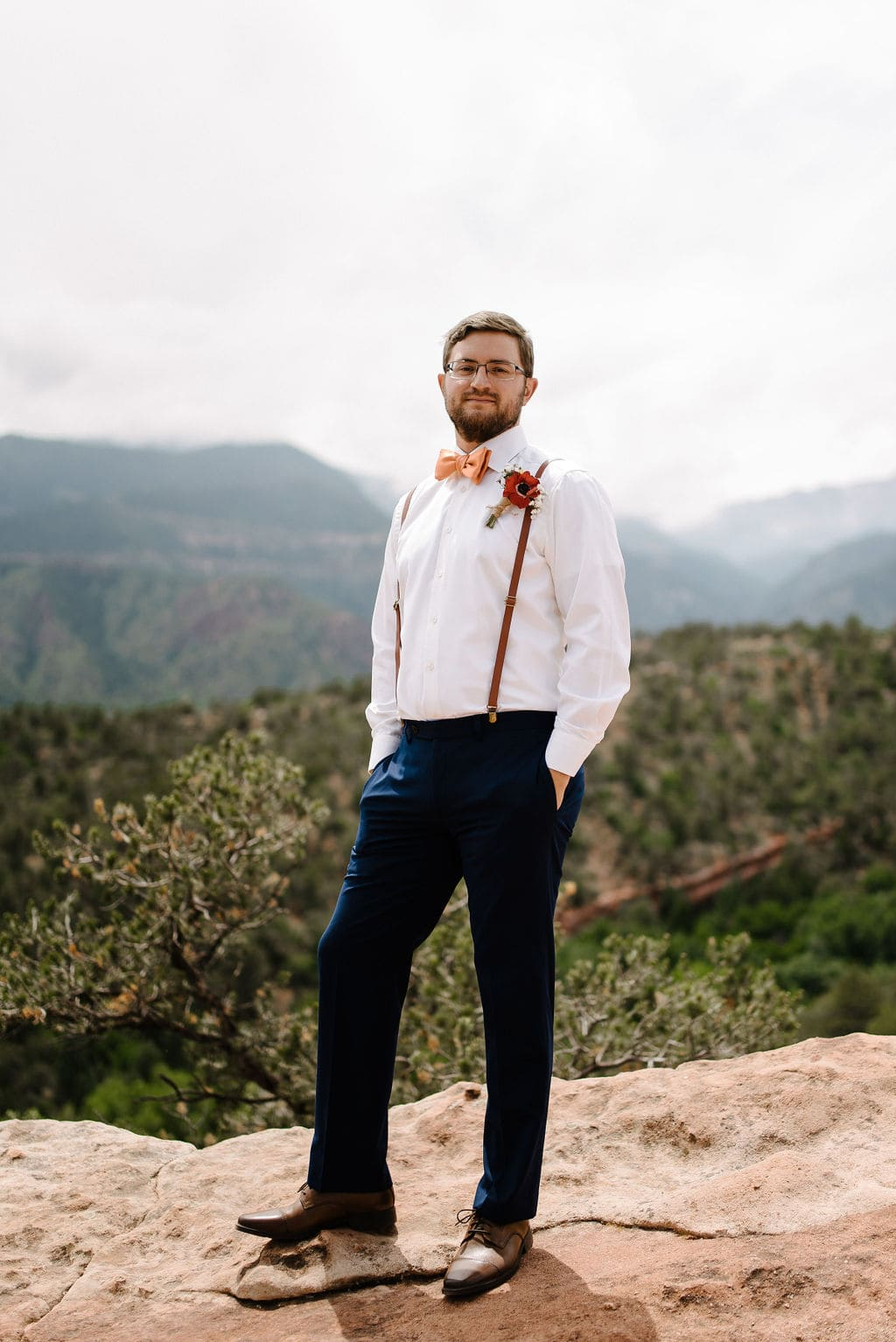 Groom suspenders