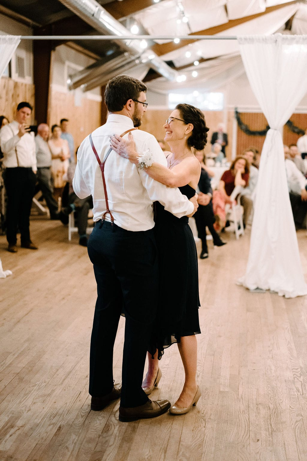 mother son dancing