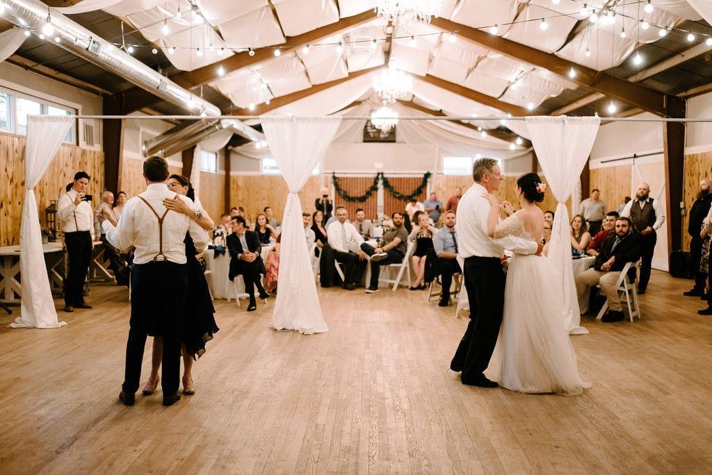 parent dances at wedding