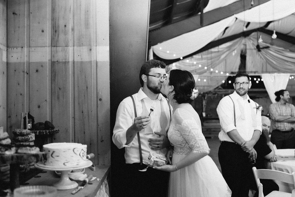 rustic lace barn wedding reception