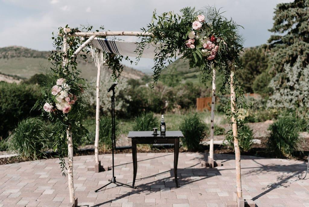 Wedding chuppah for jewish wedding