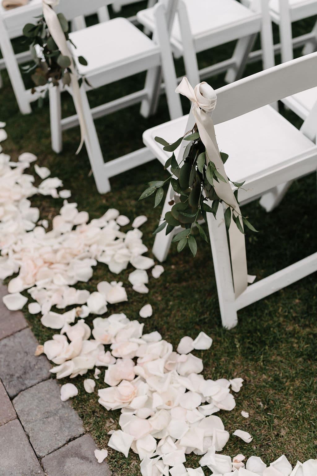 Aisle wedding petals