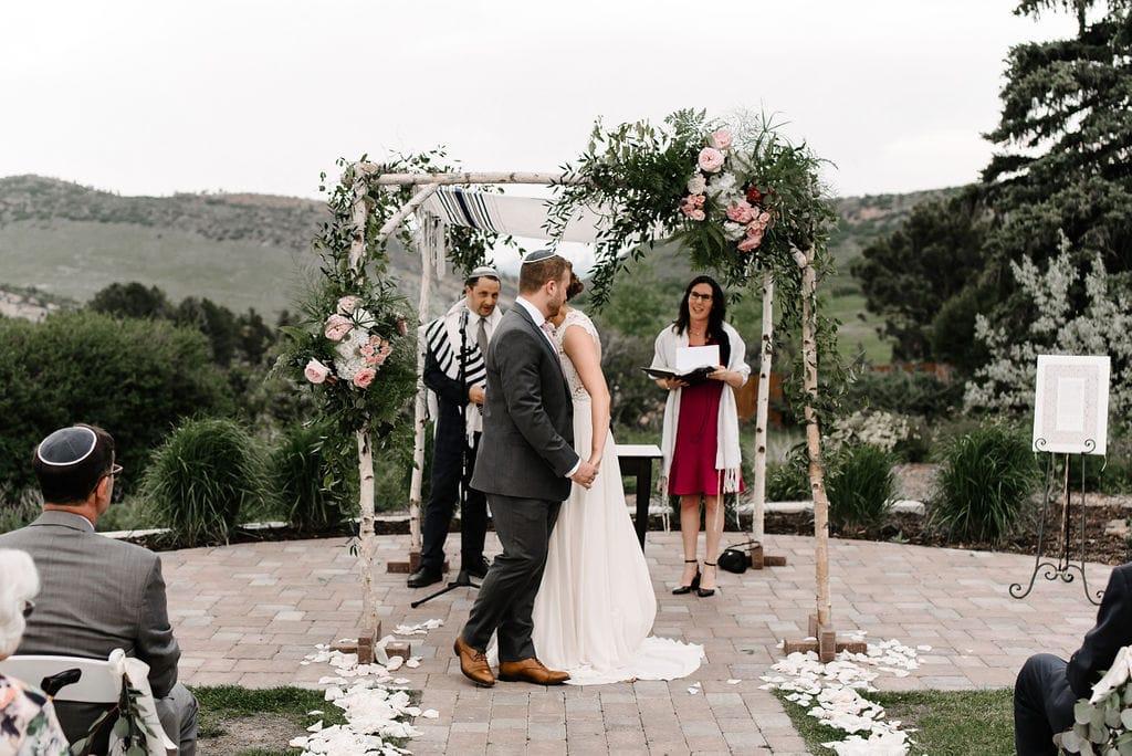 Jewish wedding in Colorado