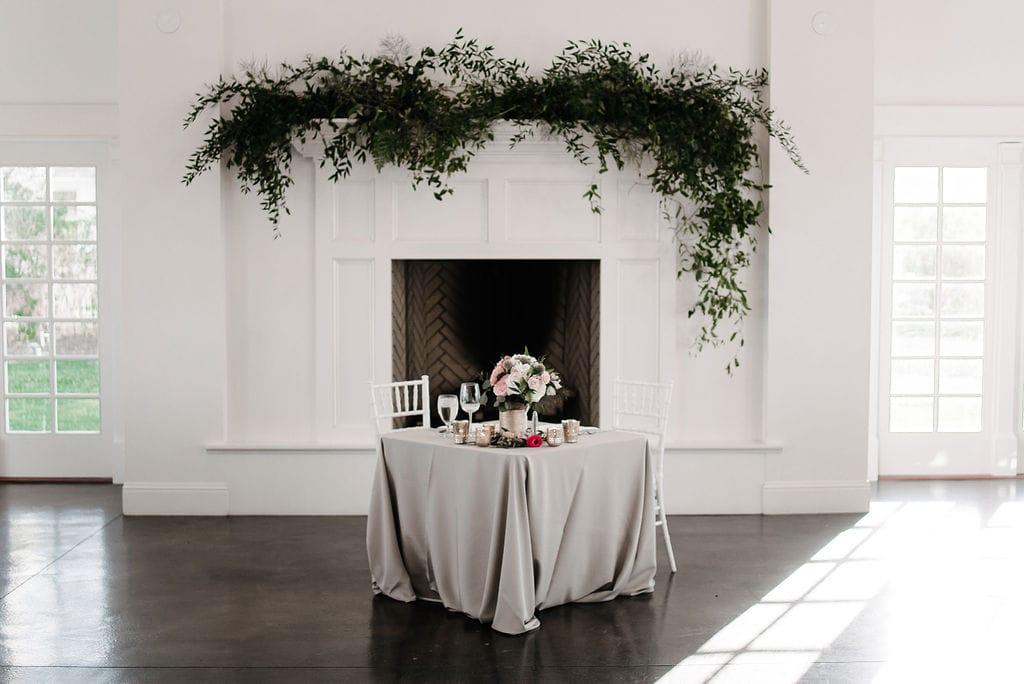 Greenery at Wedding Reception