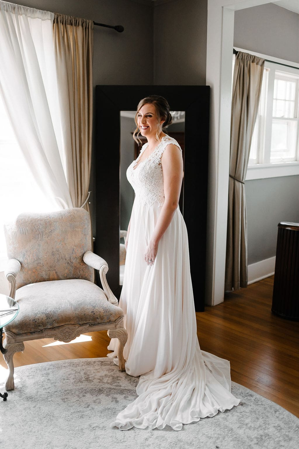 Classy Bride Portrait in Bridal Suite