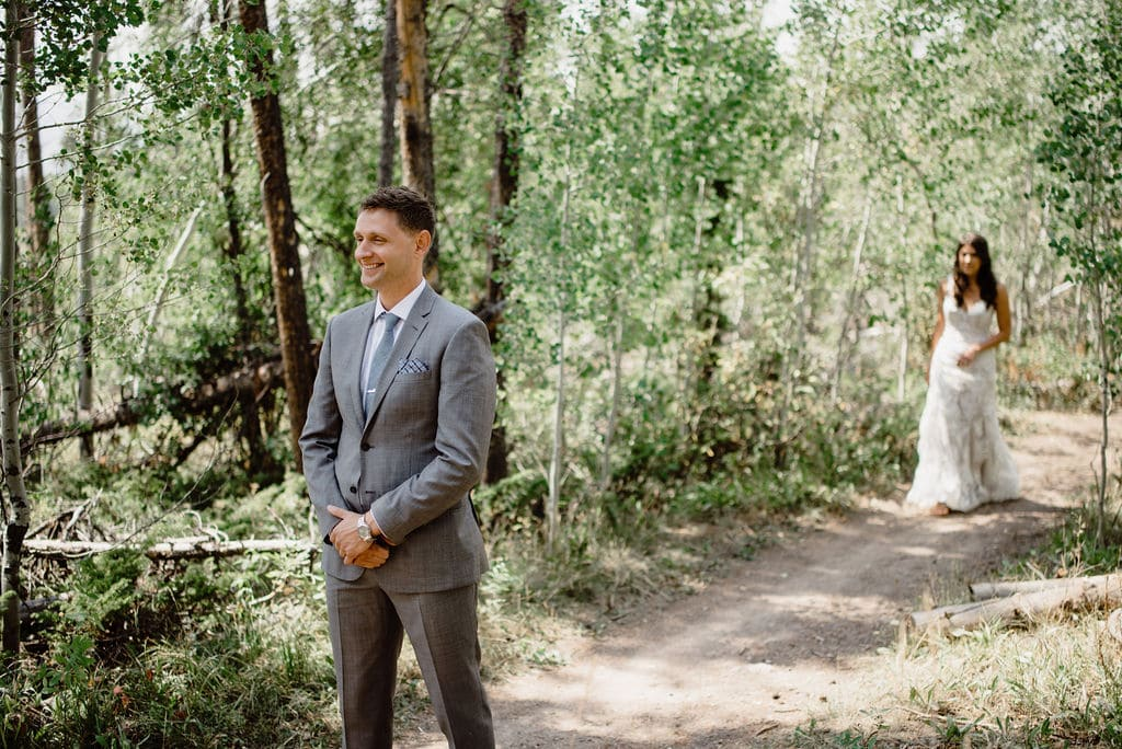 Wooded First Look in Colorado