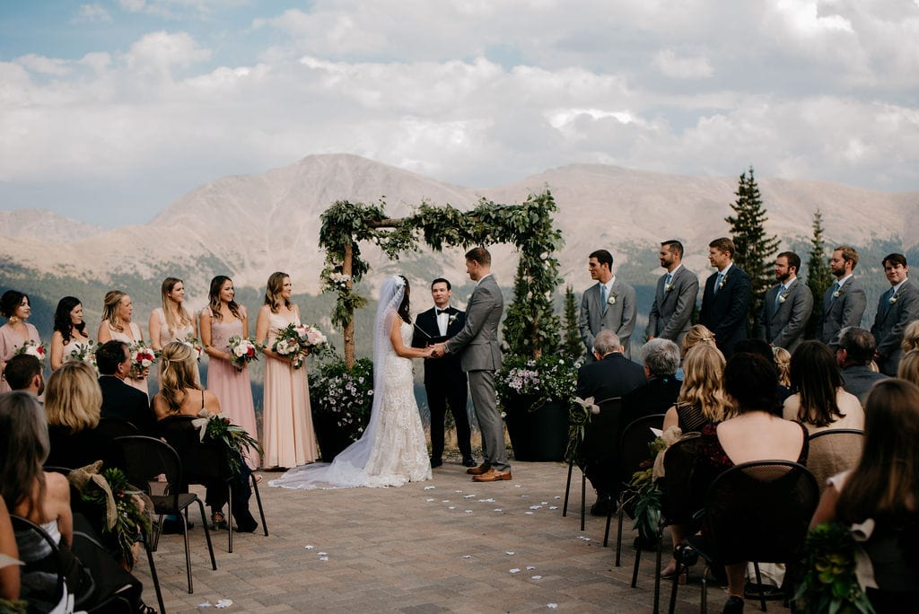 Bridal Party at Ceremony in Winter Park