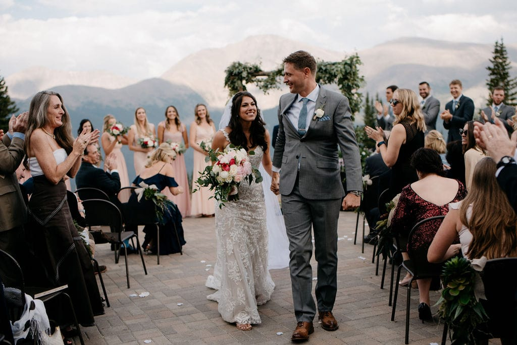 Bride and Groom Just Married in Winter Park