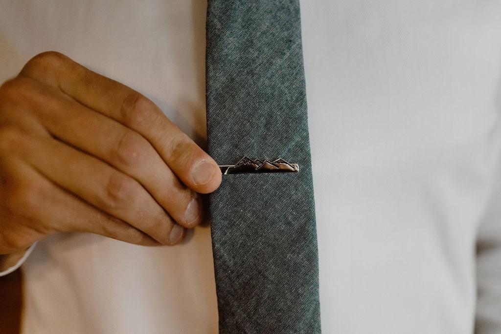 Custom Mountain Tie Clip