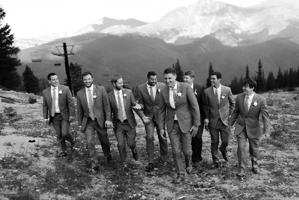 Groom and Groomsmen Mountain Top Portraits