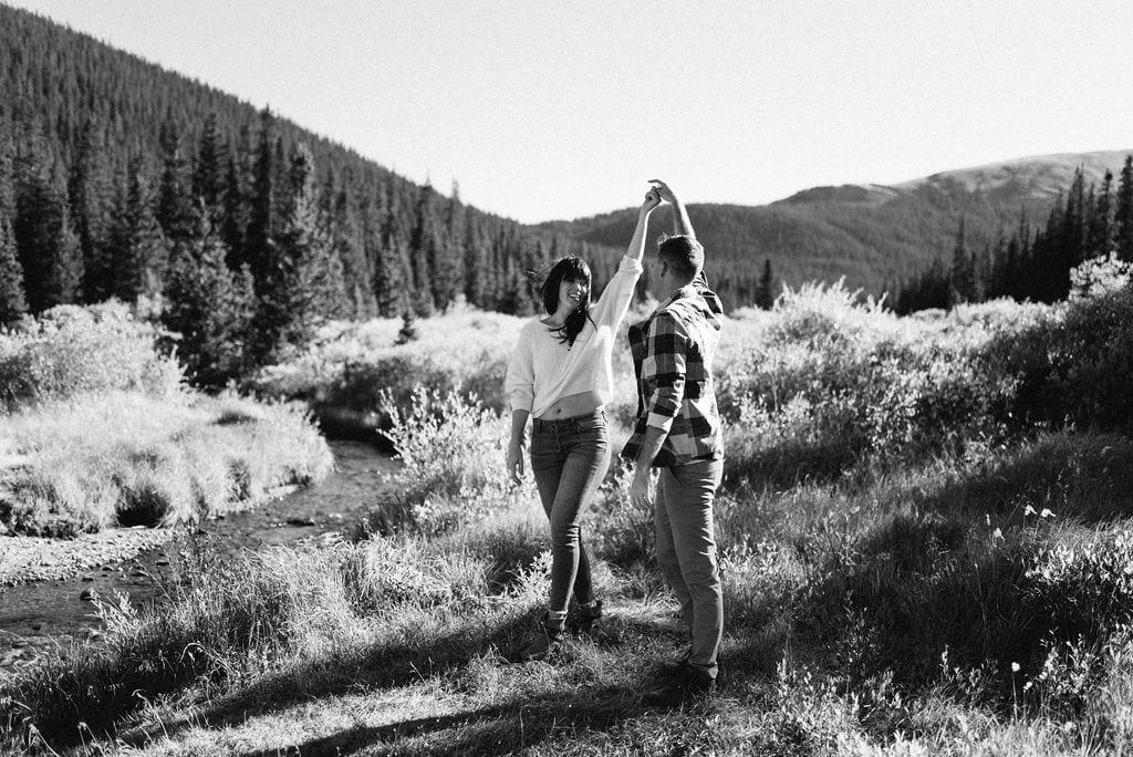 Romantic Mountain Engagement Session