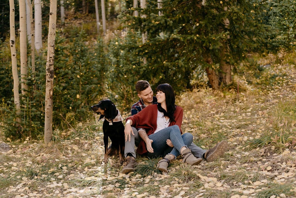 Colorado Engagement Sessions with Dogs