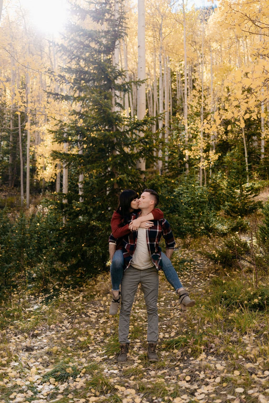 Fall Colors Engagement Session in Colorado