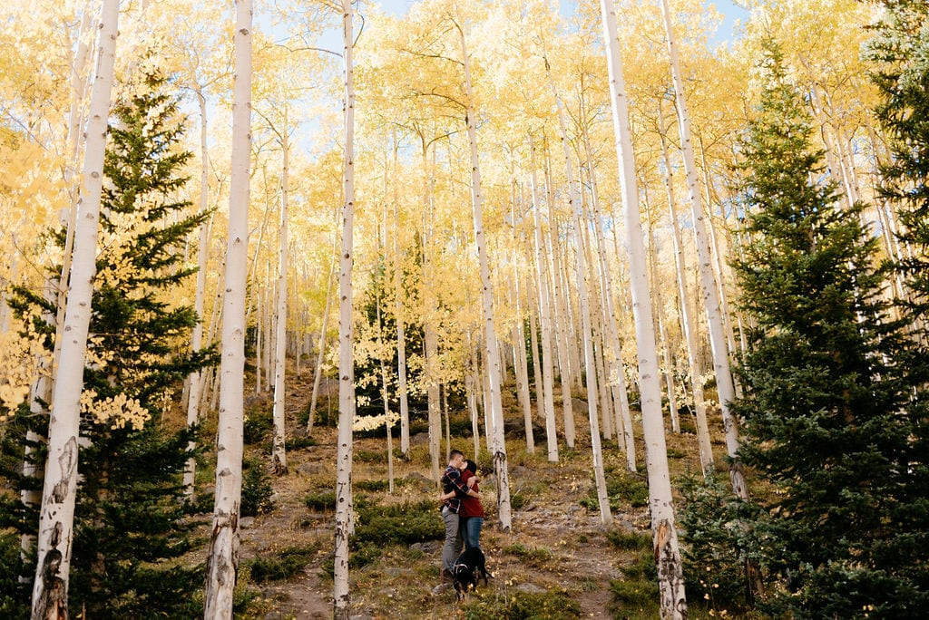 dog friendly engagement session locations colorado