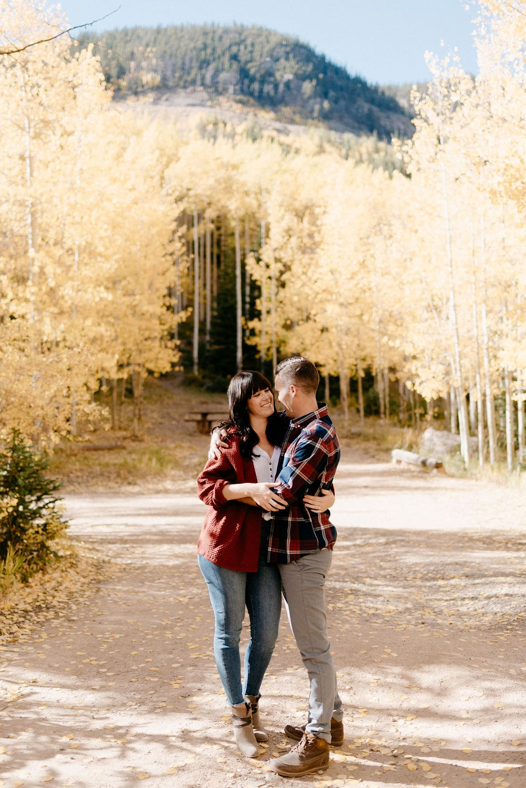 Fall Colors Engagement Session Colorado