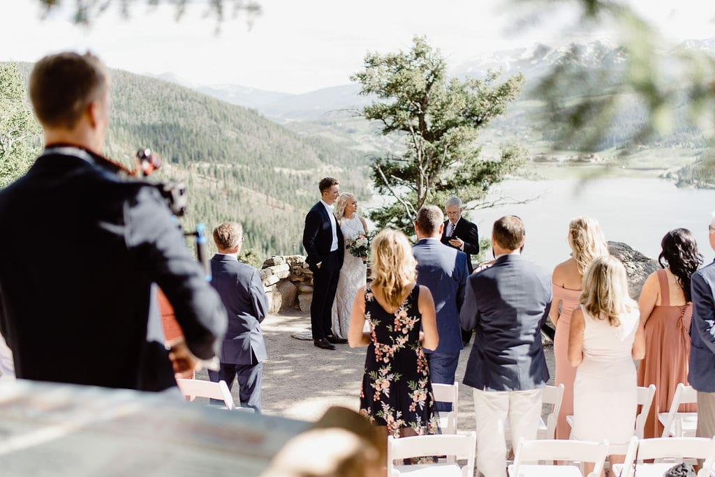 Ceremony at Sapphire Point in Colorado