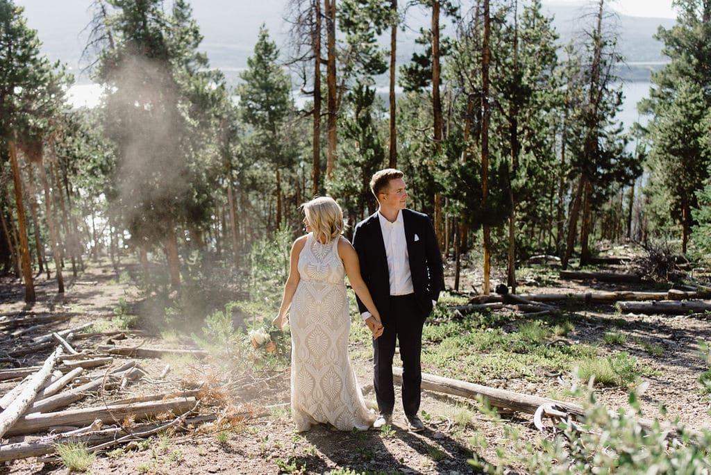 Wedding portraits in Breckenridge