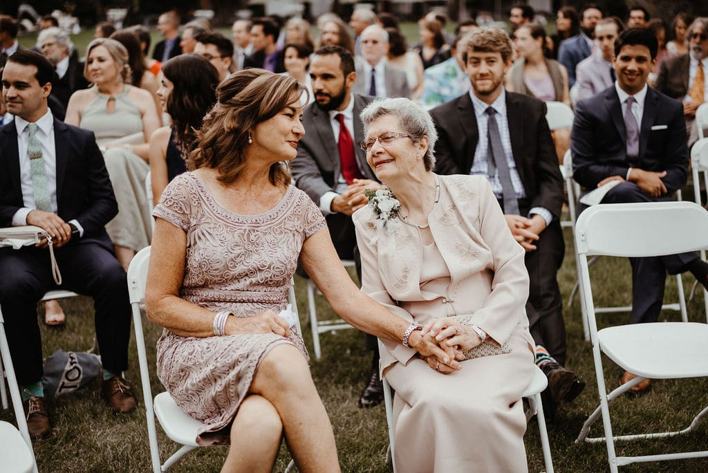 Mother and Grandmother of the bride at Cheyenne Mountain Country Club Wedding Ceremony
