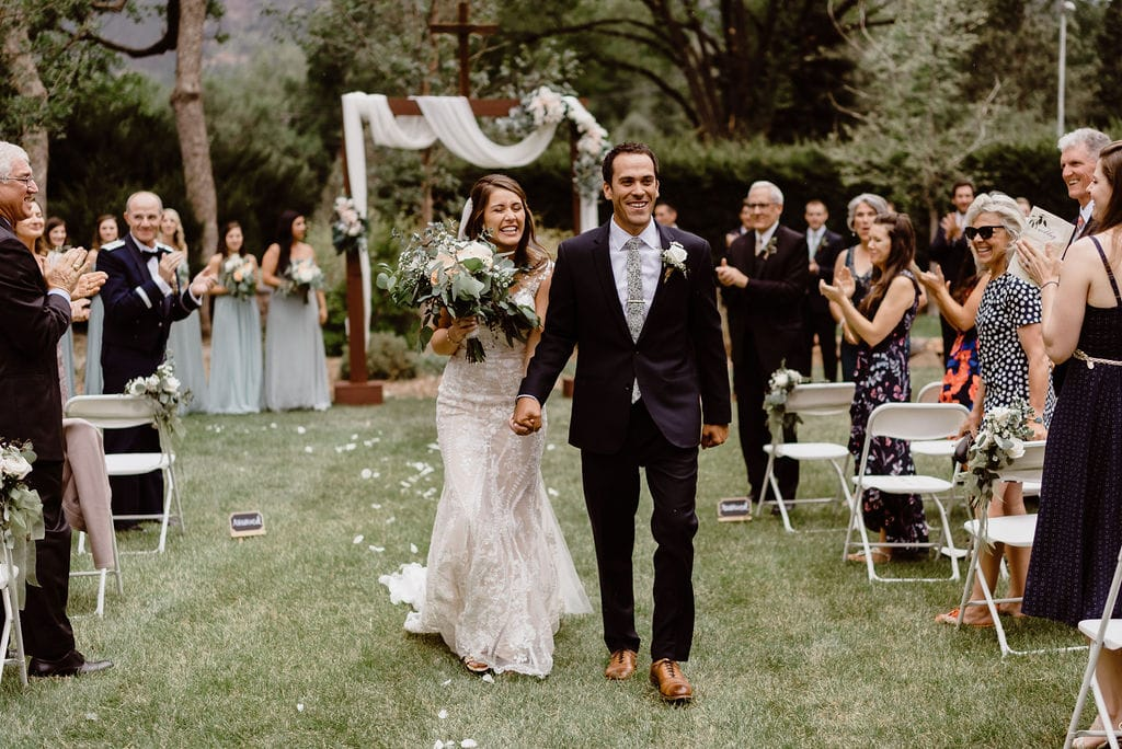 Bride and Groom Married at Cheyenne Mountain Country Club