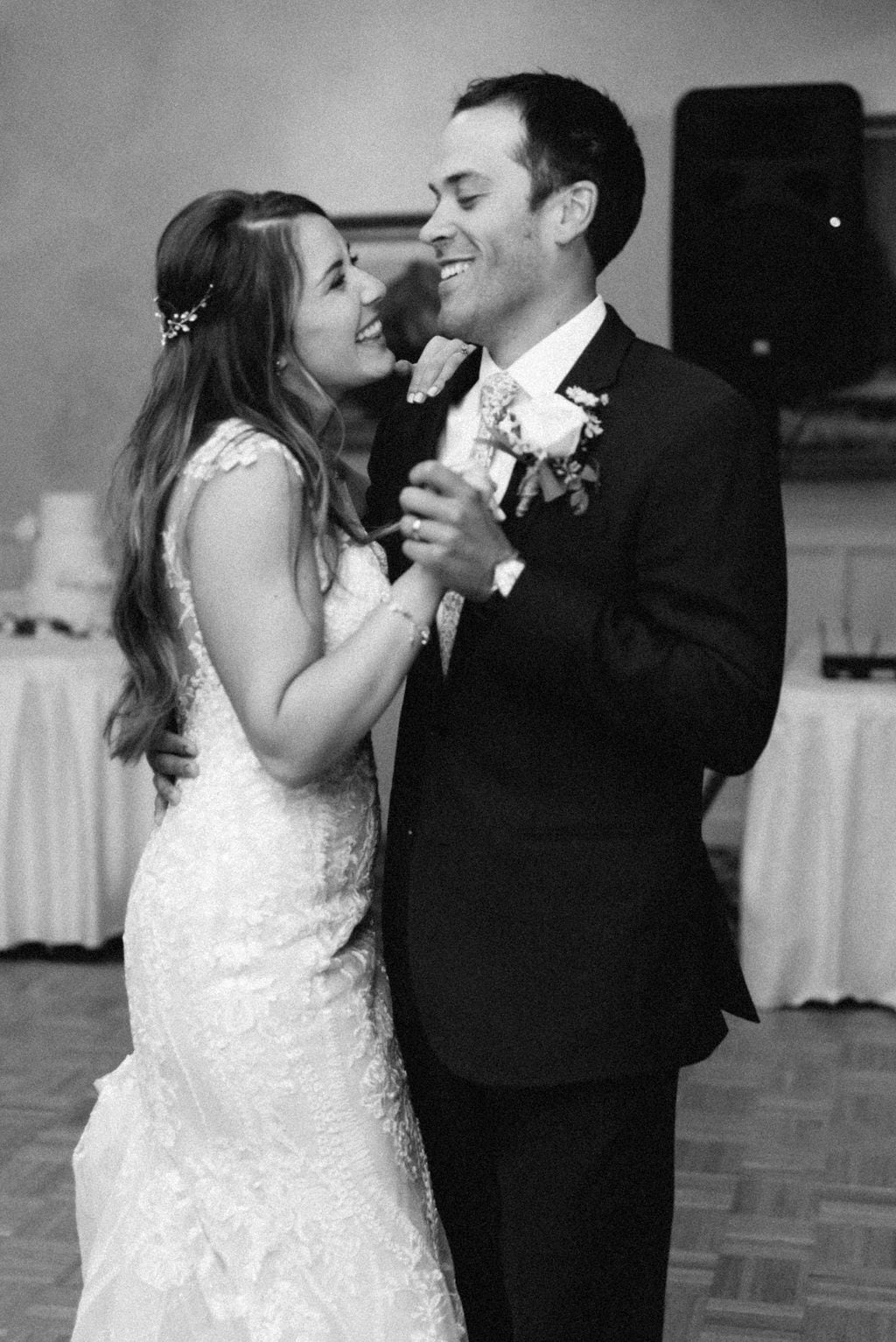 Bride and Groom First Dance at Cheyenne Mountain Country Club Reception
