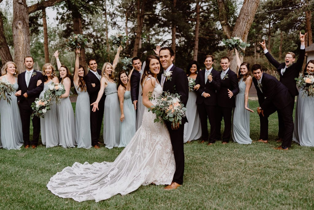 Bridal Party at Cheyenne Mountain