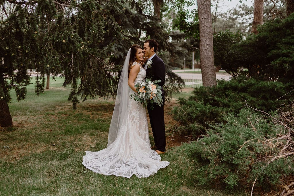 Bride and Groom Portraits at Cheyenne Mountain Country Club
