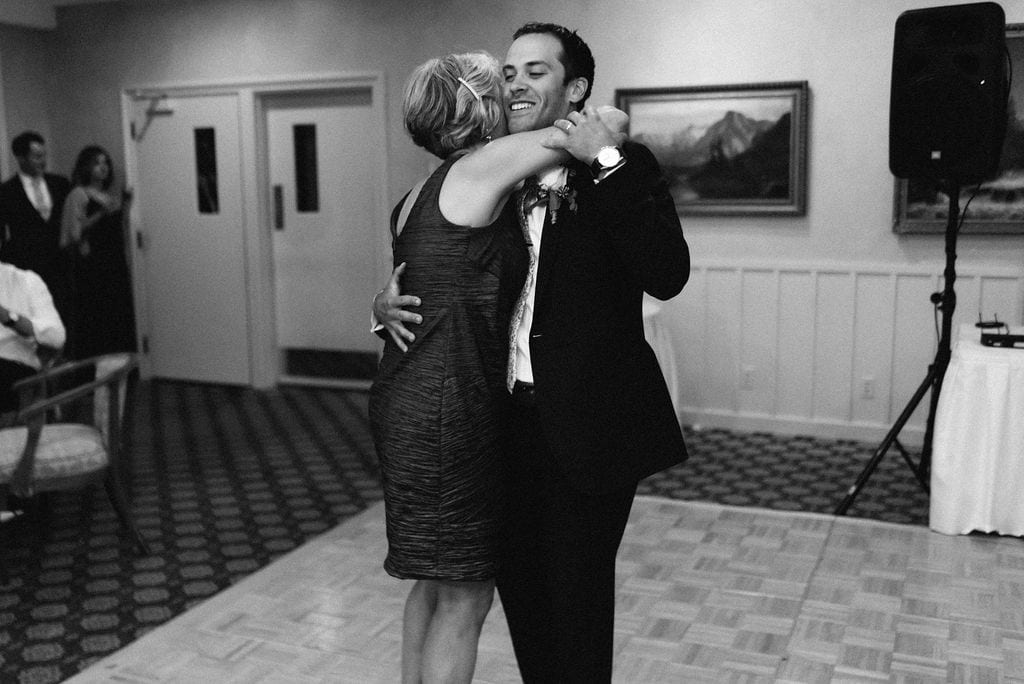 Mother Son Dance at Cheyenne Mountain Country Club Reception
