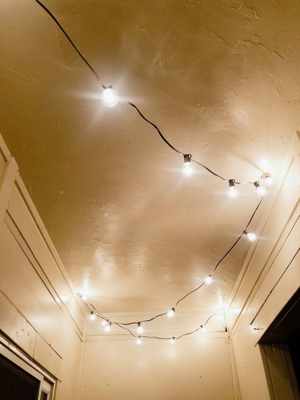 Edison Bulb String Lights On the Patio