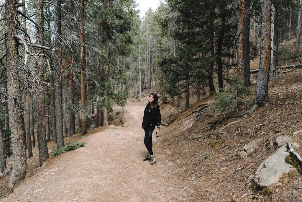 Happy hiking in evergreen colorado