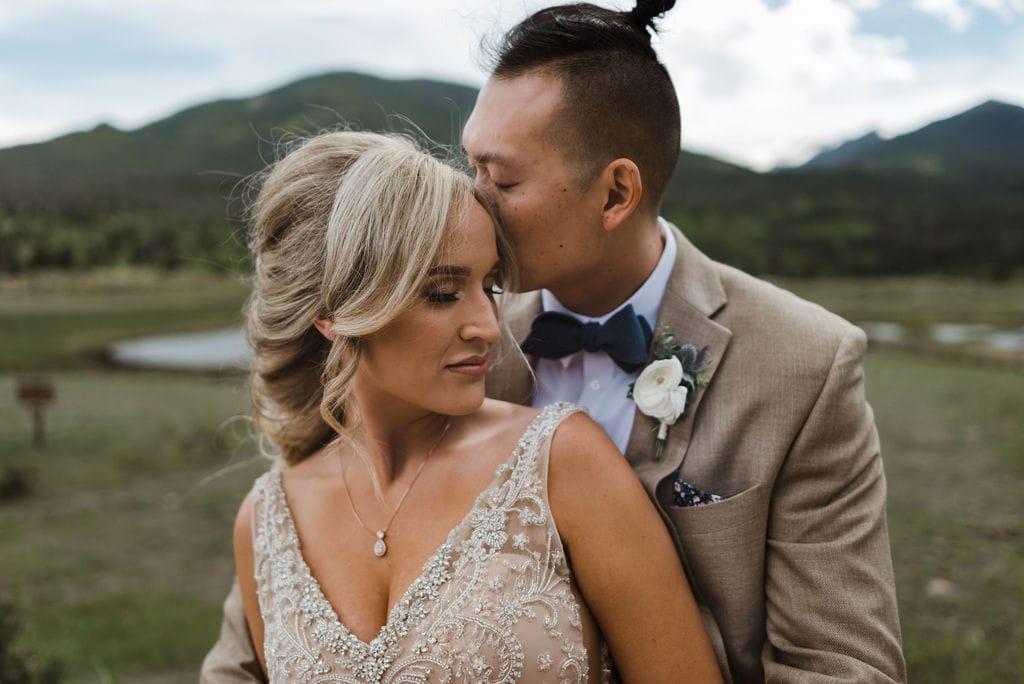 Rocky Mountain National Park Wedding Portraits
