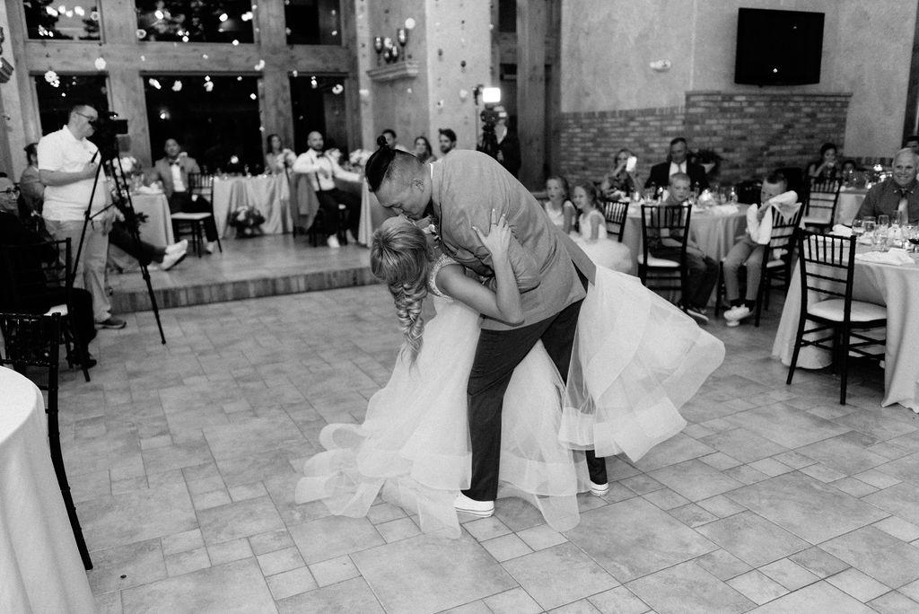 Bride and Groom First Dance at Della Terra