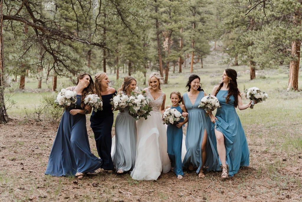Bride and Bridesmaids at Della Terra in Estes Park