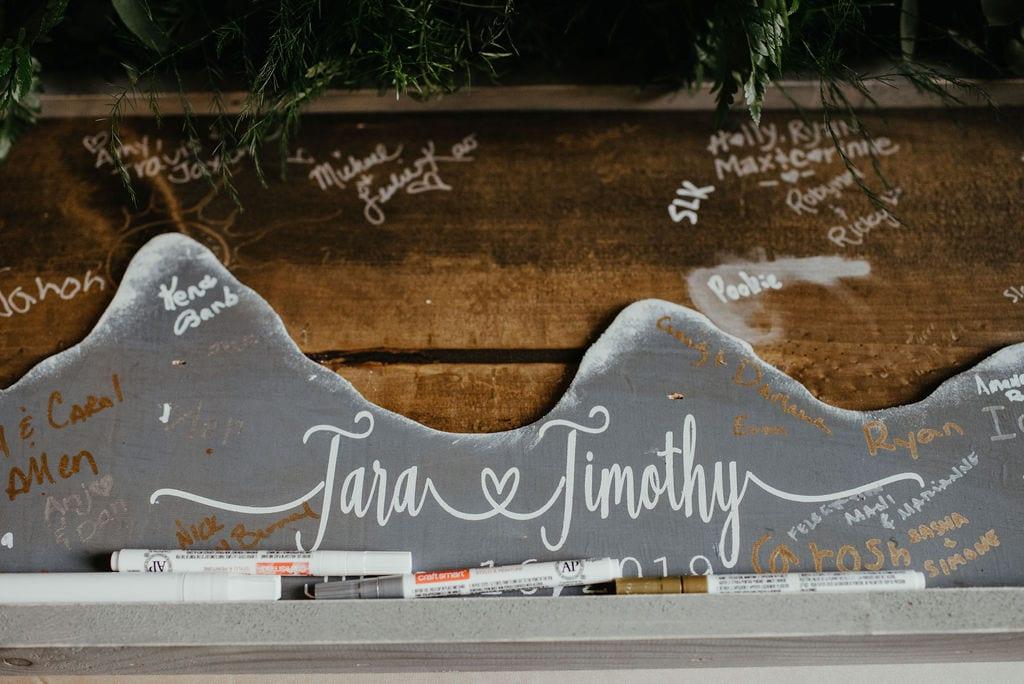 Wedding Reception Details at Della Terra