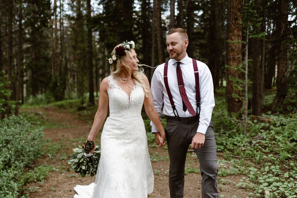 Romantic Wedding Photos in the Woods. Ten Mile Station Wedding