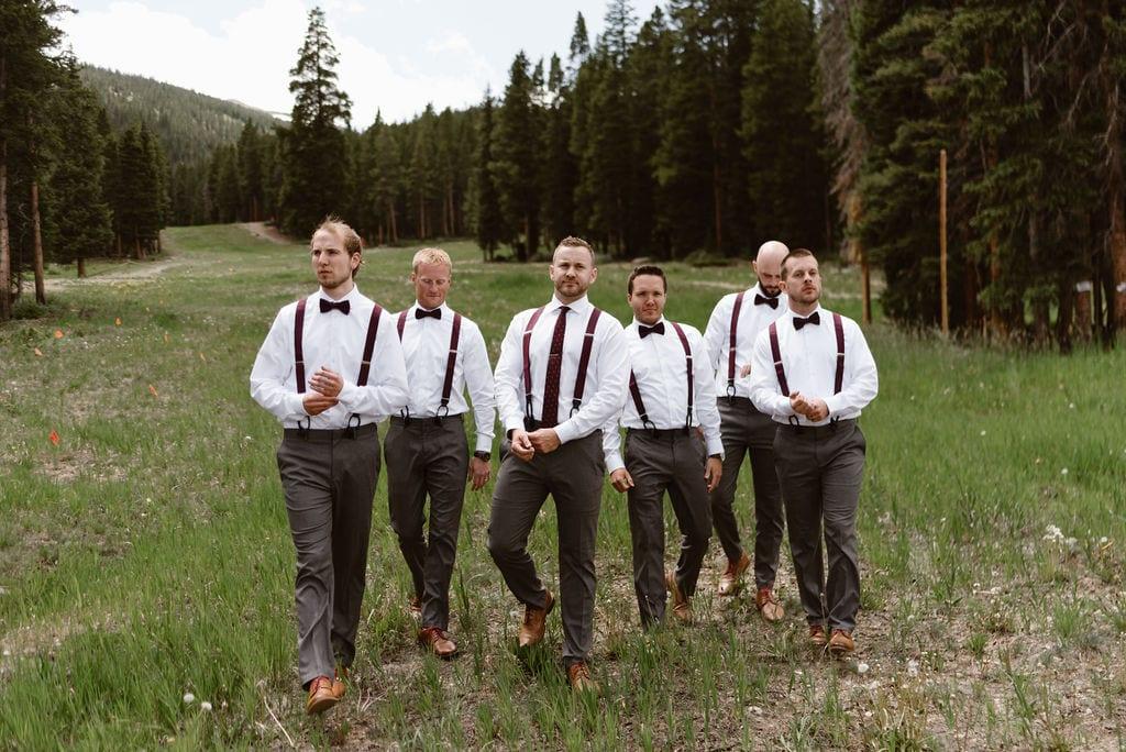 Groomsmen Portraits at Ten Mile Station wedding in Breckenridge