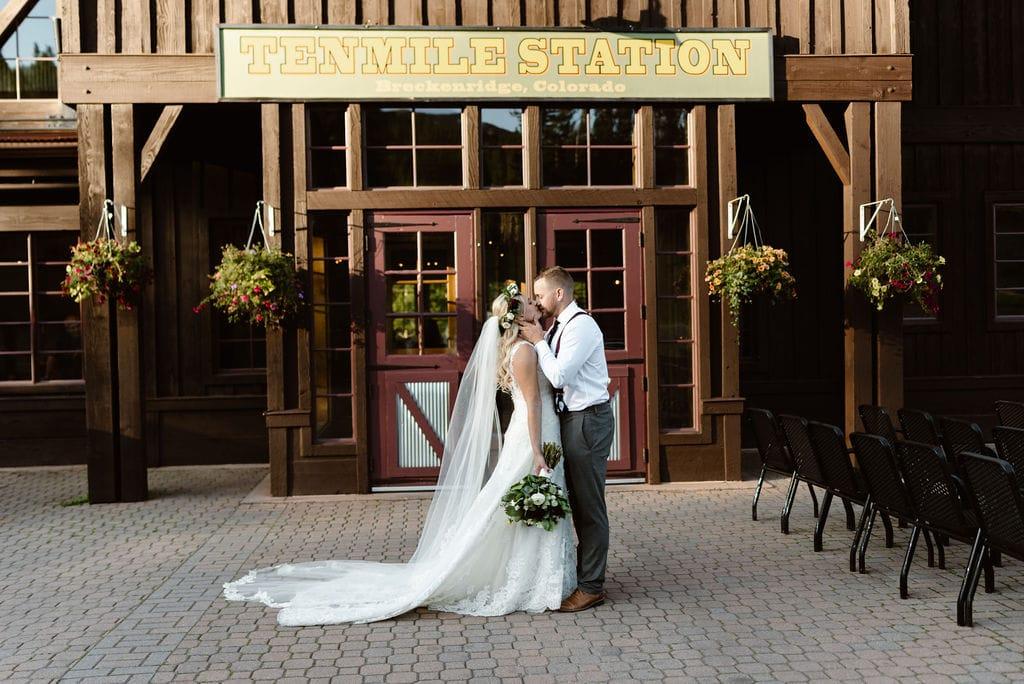 Sunset Wedding Portraits in Breckenridge Colorado